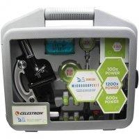 Детский микроскоп CELESTRON 100x-1200x (28 предметов) в кейсе