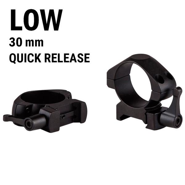купить Крепление для прицела KONUS STEEL-QR Быстросъемные кольца 30мм (низкие)