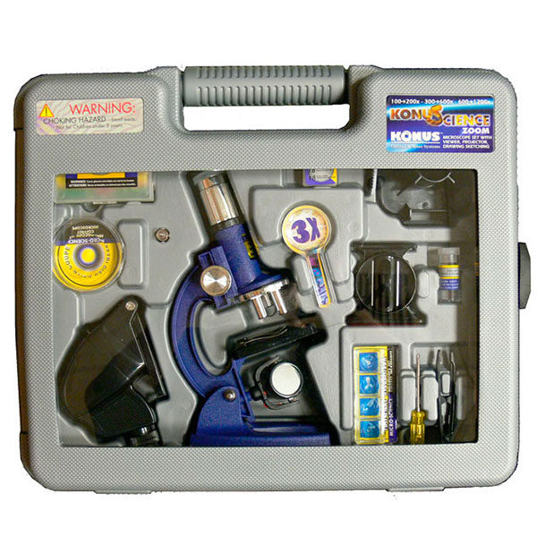 купить Детский микроскоп KONUS KONUSCIENCE (100x-1200x) в кейсе