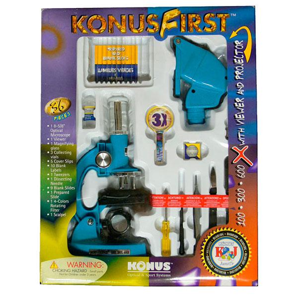 купить Детский микроскоп KONUS KONUSFIRST (100x, 300x, 600x)
