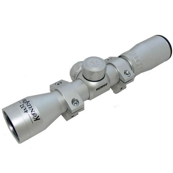 купить Оптический прицел KONUS KONUSPRO 4x32  30/30 (с кольцами, серебристый)