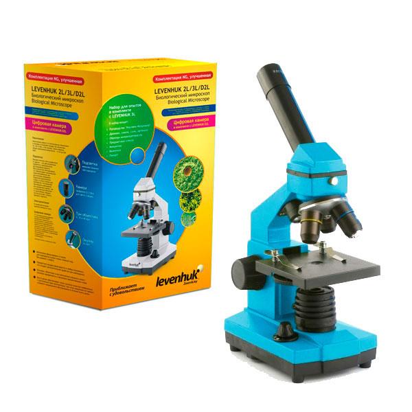 купить Микроскоп LEVENHUK Rainbow 2L NG Azure (лазурь) (64-640x)