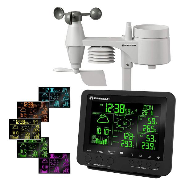купить Метеостанция BRESSER Weather Center 5-in-1 256 colour (Black)