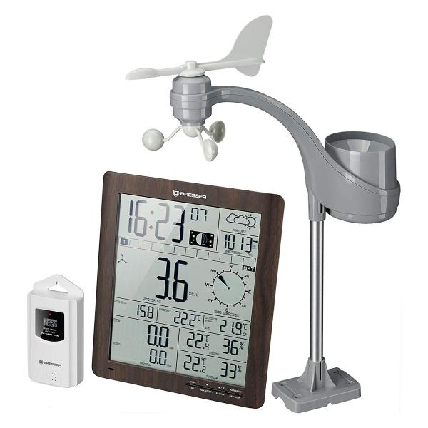купить Метеостанция BRESSER Weather Center ClimaTemp XXL (Brown)