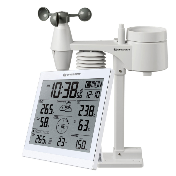 купить Метеостанция BRESSER Weather Center JC XXL 5-in-1 (White)