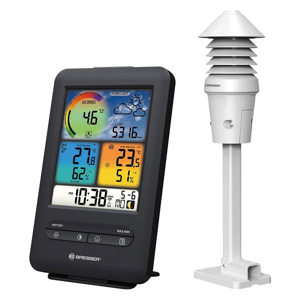купить Метеостанция BRESSER WIFI Colour 4-in-1 UV/Light Sensor (Black)