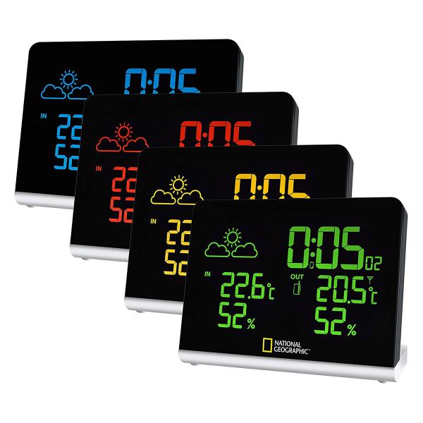купить Метеостанция NATIONAL GEOGRAPHIC Multi Colour Wireless (Black)