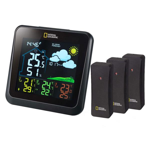 купить Метеостанция NATIONAL GEOGRAPHIC VA Colour Multi-Zone с 3 датчиками