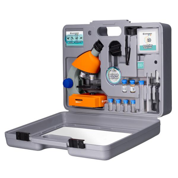 купить Детский микроскоп BRESSER Junior 40x-640x Orange (с кейсом)
