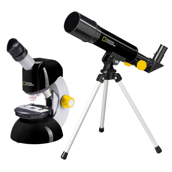 купить Детский микроскоп NATIONAL GEOGRAPHIC Junior 40x-640x + Телескоп 50/360 (Base)