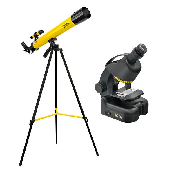 купить Детский микроскоп NATIONAL GEOGRAPHIC Junior 40x-640x + Телескоп 50/600
