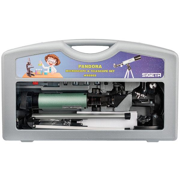 купить Детский микроскоп SIGETA Pandora (микроскоп + телескоп) в кейсе